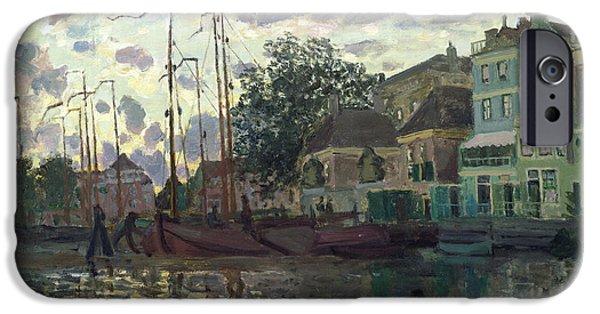 1871 iPhone Cases - The Dam at Zaandam iPhone Case by Claude Monet
