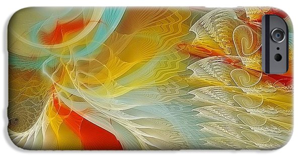 Apophysis Pastels iPhone Cases - The Dance of Life iPhone Case by Gayle Odsather