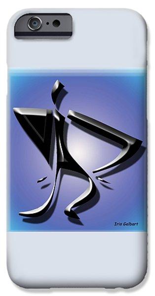 Figure iPhone Cases - The Dancer iPhone Case by Iris Gelbart