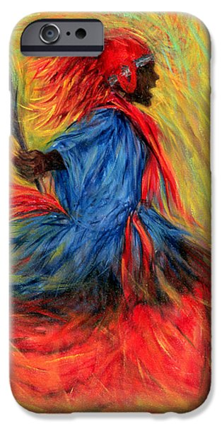 Recently Sold -  - Figures iPhone Cases - The Dancer iPhone Case by Tilly Willis