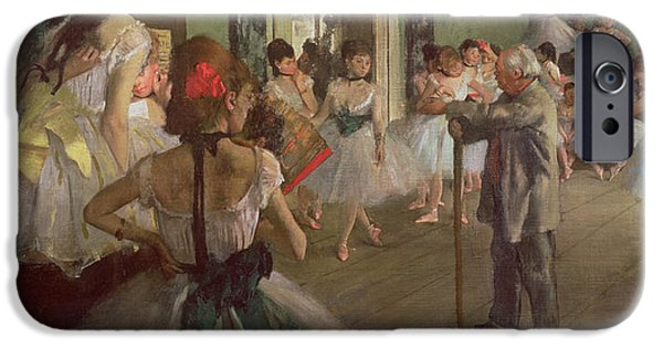 Dancer iPhone Cases - The Dancing Class iPhone Case by Edgar Degas