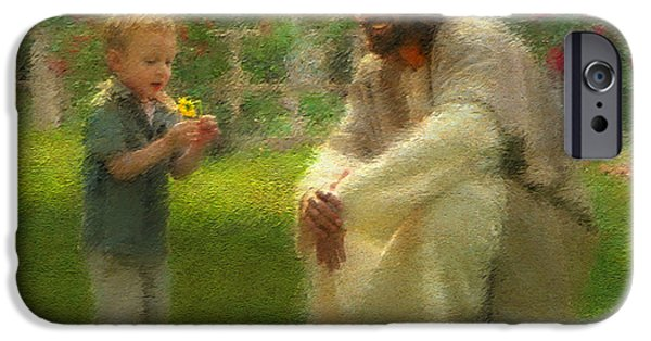 Religious Art iPhone Cases - The Dandelion iPhone Case by Greg Olsen