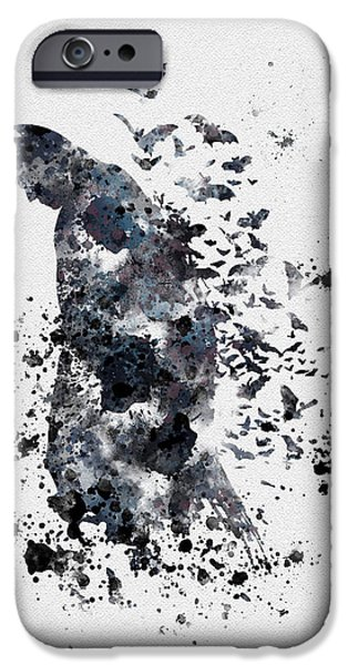 Kids Art iPhone Cases - The Dark Knight iPhone Case by Rebecca Jenkins