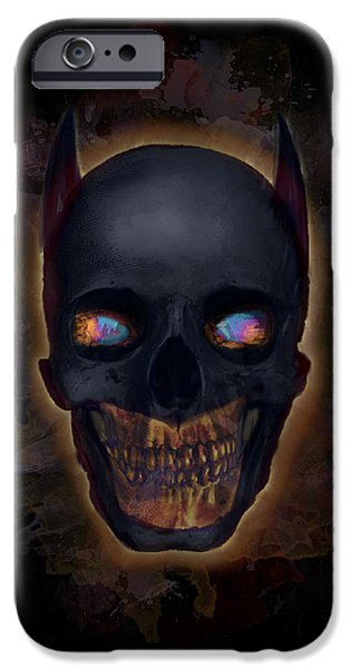 Eerie iPhone Cases - The Dark Night iPhone Case by Ian Barefoot