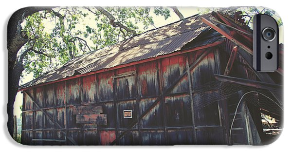 Old Barn Photographs iPhone Cases - The Day Things Fell Apart iPhone Case by Laurie Search