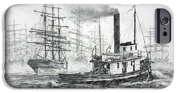 Tall Ship iPhone Cases - The Days of Steam and Sail iPhone Case by James Williamson