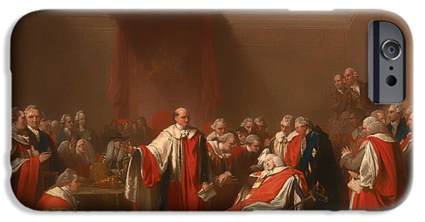 Chatham iPhone Cases - The Death Of Chatham - William Pitt 1st Earl Of Chatham iPhone Case by Benjamin Marshall
