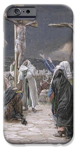 Testament iPhone Cases - The Death of Jesus iPhone Case by Tissot
