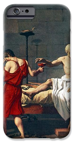 The Death Of Socrates, 1787 Artwork iPhone Case by Sheila Terry