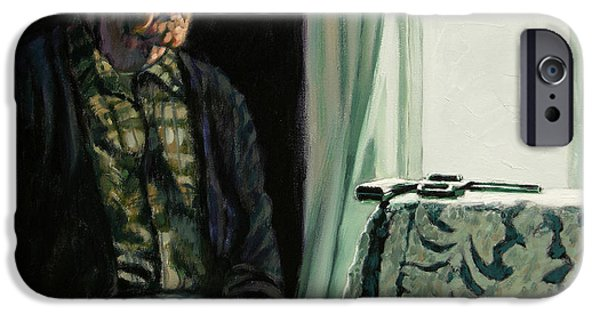 Depression Paintings iPhone Cases - The Decision iPhone Case by John Lautermilch