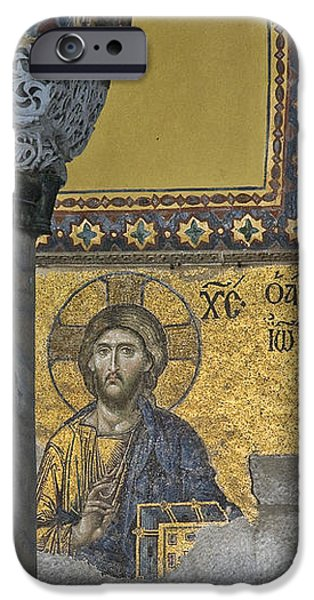 The Deesis mosaic with Christ as ruler At Hagia Sophia iPhone Case by Ayhan Altun
