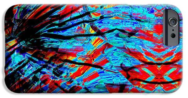 Abstract Digital iPhone Cases - The Depths iPhone Case by Stephen  Killeen