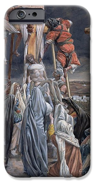 Sadness iPhone Cases - The Descent from the Cross iPhone Case by Tissot
