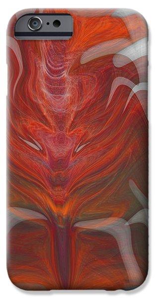 The Devil inside iPhone Case by Linda Sannuti