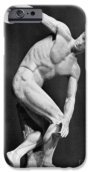 THE DISCOBOLUS, 450.B.C iPhone Case by Granger