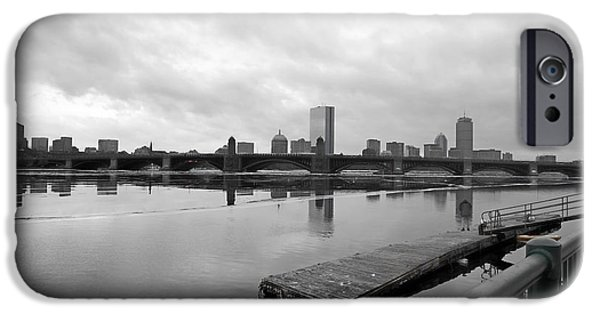 City. Boston iPhone Cases - The Distant Grey iPhone Case by JD Moore