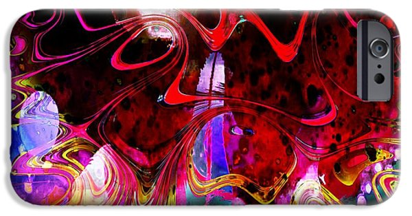 Fractals Fractal Digital Art iPhone Cases - The Disturbed Mind iPhone Case by Amanda Moore