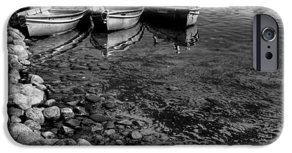 Boats At The Dock iPhone Cases - The Dock at Camp Russell iPhone Case by David Patterson