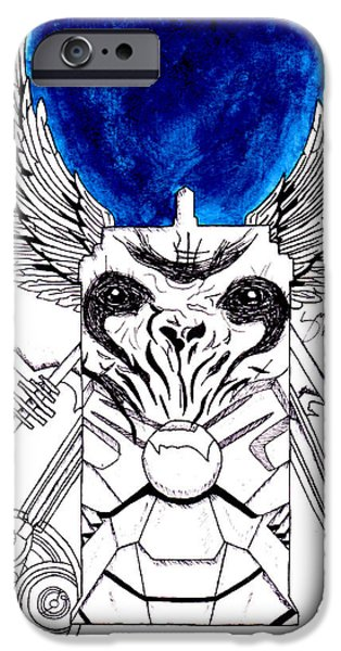 Weeping Drawings iPhone Cases - The Doctor iPhone Case by Marcus Beronilla