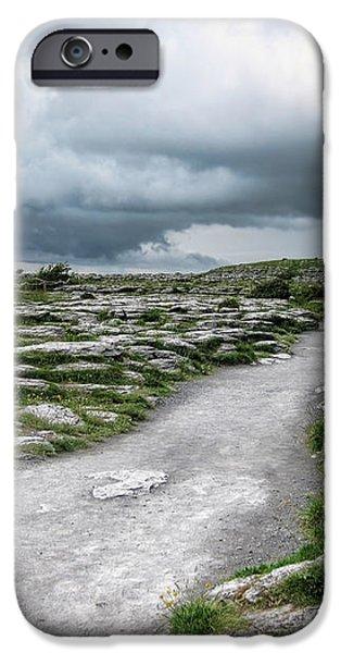The Dolmen in the Burren iPhone Case by Menega Sabidussi