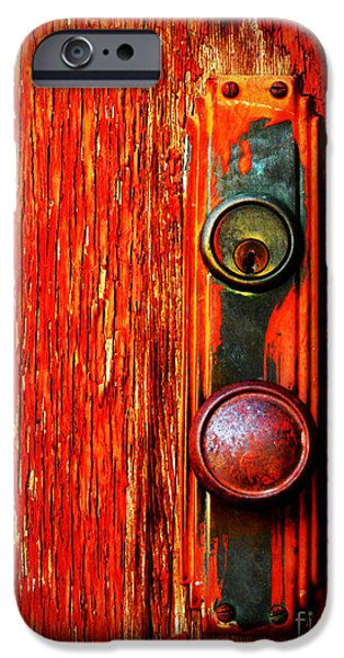 Door iPhone Cases - The Door Handle  iPhone Case by Tara Turner