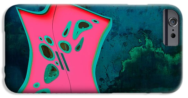 Distortion iPhone Cases - The Doors - Turq02bb iPhone Case by Variance Collections