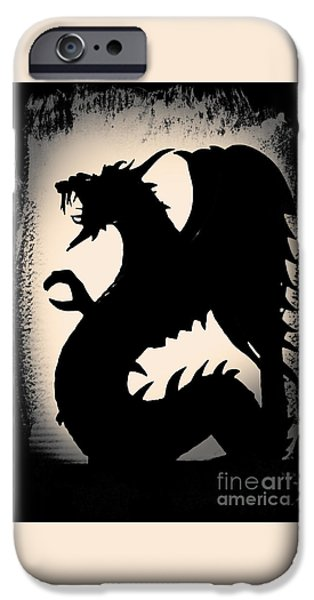 Statue Portrait iPhone Cases - The Dragon iPhone Case by Gerlinde Keating - Keating Associates Inc