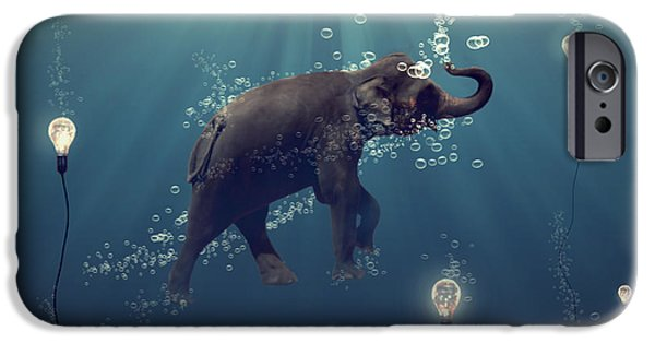 Digital iPhone Cases - The dreamer iPhone Case by Martine Roch