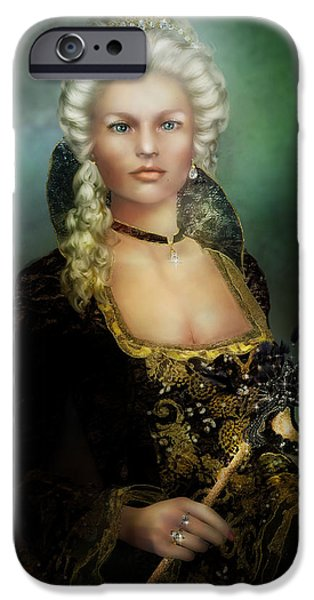 Ball Gown iPhone Cases - The Duchess iPhone Case by Karen K