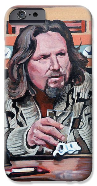 Alley Paintings iPhone Cases - The Dude iPhone Case by Tom Roderick