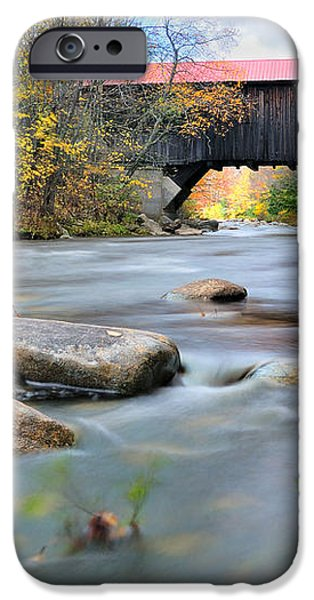 The Durgin Covered bridge - Sandwich NH iPhone Case by Thomas Schoeller