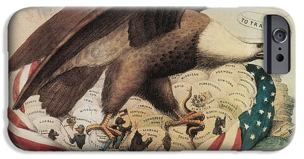 Drawing Of Eagle iPhone Cases - The Eagles Nest, 1861 iPhone Case by Photo Researchers