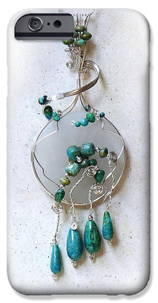 Americans Jewelry iPhone Cases - The Earth and Sky and Sea iPhone Case by Rhonda Chase