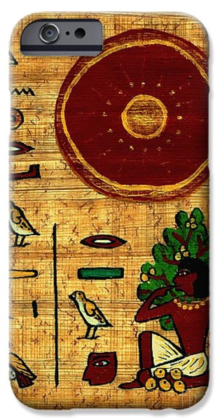 Fertility Paintings iPhone Cases - The Earth is in Joy iPhone Case by Pet Serrano
