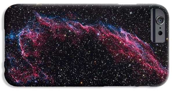 Stellar iPhone Cases - The Eastern Veil Nebula iPhone Case by Roth Ritter
