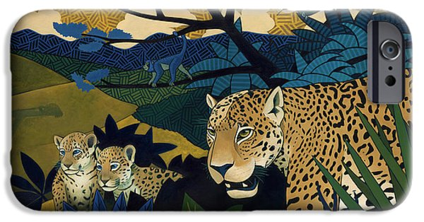 Jaguars iPhone Cases - The Edge of Paradise iPhone Case by Nathan Miller