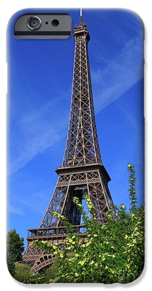 The Eiffel Tower in Spring iPhone Case by Louise Heusinkveld