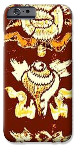 Tibetan Buddhism iPhone Cases - The eight auspicious symbols of Buddhism iPhone Case by Veena Nair