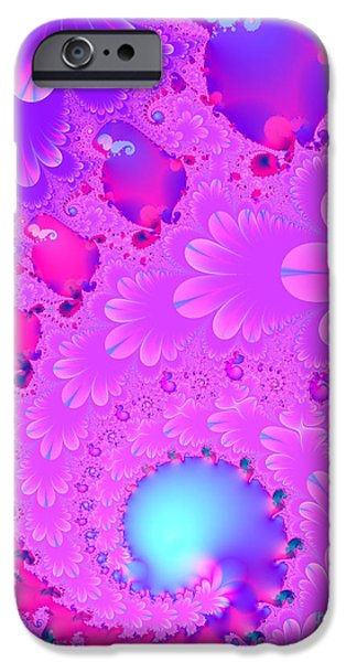 Fractals Fractal Digital Art iPhone Cases - The Enchanted Forest . Version 2 . S8 iPhone Case by Wingsdomain Art and Photography