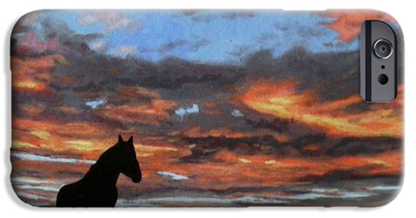 Horse iPhone Cases - The End of the Day iPhone Case by Paul Larson
