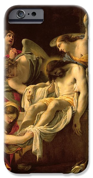 Tombs iPhone Cases - The Entombment iPhone Case by Simon Vouet