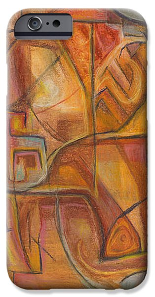 Abstract Expressionist Pastels iPhone Cases - The Essential Primitive iPhone Case by Tom Kecskemeti