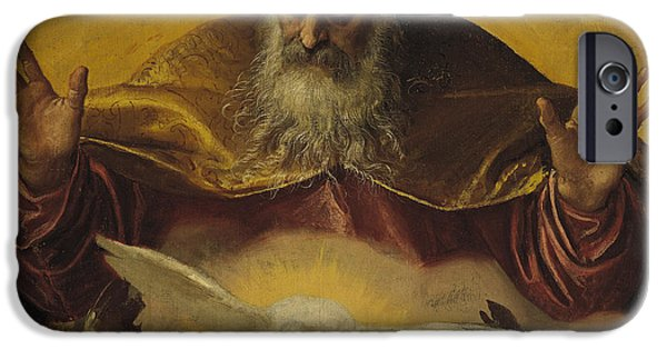 Cherub iPhone Cases - The Eternal Father iPhone Case by Paolo Caliari Veronese