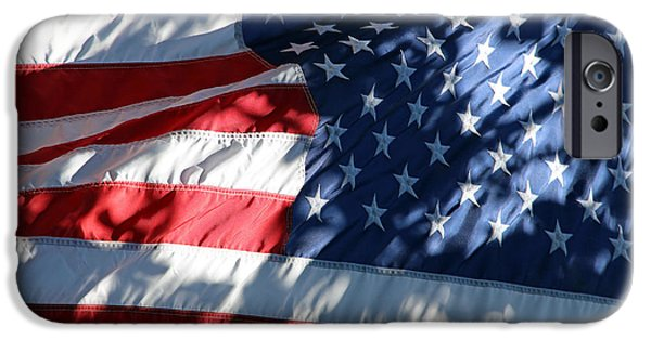 Cora Wandel iPhone Cases - The Ever Changing American Flag iPhone Case by Cora Wandel