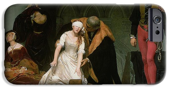 Royal iPhone Cases - The Execution of Lady Jane Grey iPhone Case by Hippolyte Delaroche