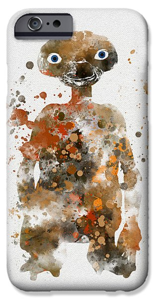 Science Fiction Mixed Media iPhone Cases - The Extra Terrestrial iPhone Case by Rebecca Jenkins