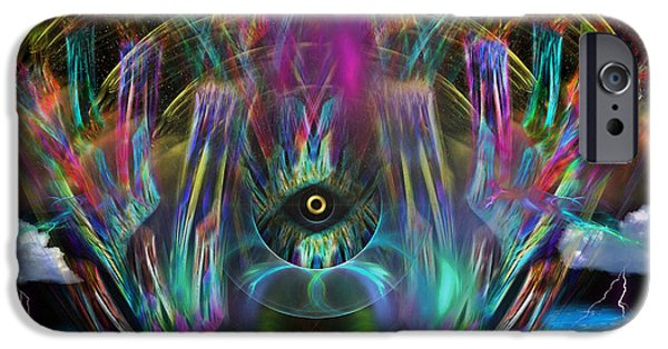 Horus Digital Art iPhone Cases - The Eye of Horus iPhone Case by Mario Carini
