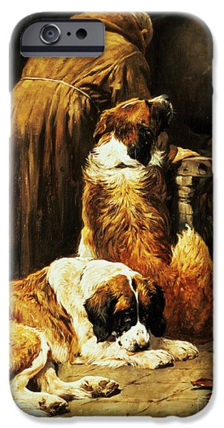 Best Friend iPhone Cases - The Faith of Saint Bernard iPhone Case by John Emms