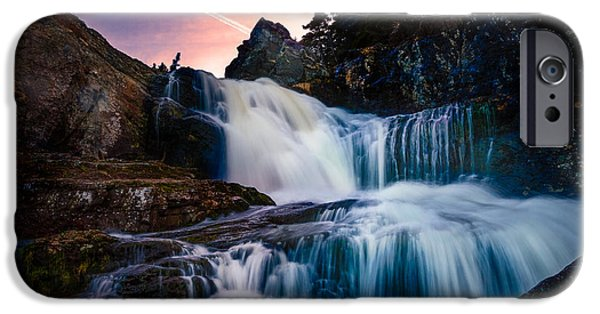 Hudson River iPhone Cases - The Falls at Flatrock iPhone Case by Shawn Hudson