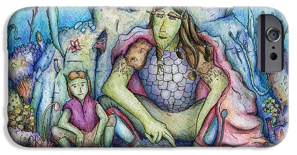 Alga Mixed Media iPhone Cases - The Family Book iPhone Case by Przemyslaw Stanuch